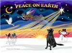 CHRISTMAS SUNRISE<br>& Flat Coated Retriever