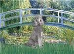 LILY POND BRIDGE<br>& Standard Silver Poodle