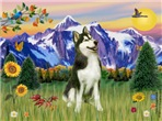 MOUNTAIN COUNTRY<br>& Siberian Husky(BW)#3