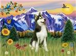 MOUNTAIN COUNTRY<br>& Siberian Husky(BW)#3