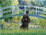 LILY POND BRIDGE<br>&Black Poodle (Toy/Min)