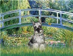 LILY POND BRIDGE<br>& Min Schnauzer (cropped ears)