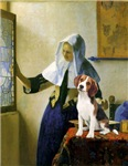 WOMAN WITH PITCHER<br>and Beagle (#1)