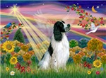 AUTUMN ANGEL<br>& English Springer Spaniel (BW)