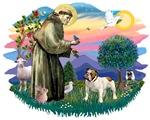 St. Francis #2 &<br>English Bulldog (brown & white