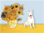 SUNFLOWERS &<br>a Bull Terrier (#4)