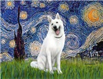 STARRY NIGHT<br>& White German Shepherd