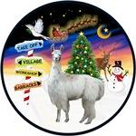Christmas Signs & a Llama