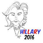 Hillary 2016 Caricature T-shirts and Merch