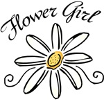 daisy flower girl t-shirts