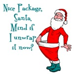 Unwrap Santa's Package T-shirts & Stocking Stuffer
