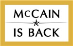 McCAIN IS BACK
