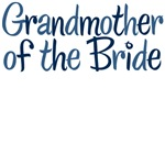 Cool Country Grandmother of the Bride Blue T-Shirt