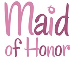Cool Country Maid of Honor Pink T-Shirts