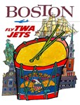 TWA Fly to Boston Print