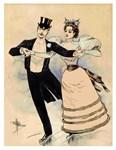 Ice Skaters Rare 1890 Print