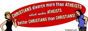 Christians Divorce More Than Atheists