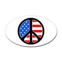 American Flag Peace Symbol