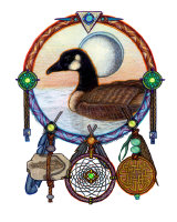 Gorgeous goose dreamcatcher by Patrick Shapard.