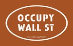 Occupy Wall St Oval Pumpkin Orange