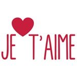 Je t'aime text design