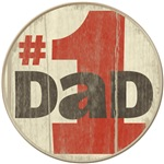 Number one dad on wood