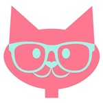 Glasses Cat Pink Mint
