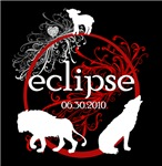 Eclipse- Lion Lamb Wolf on Black