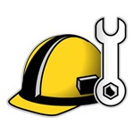 Construction Hard Hat and Wrench