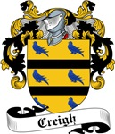 Creigh Family Crest, Coat of Arms