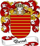 Barret Family Crest, Coat of Arms