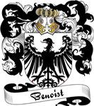 Benoist Family Crest, Coat of Arms