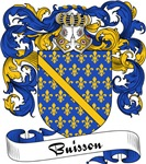 Buisson Family Crest, Coat of Arms