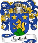 Martinet Family Crest, Coat of Arms