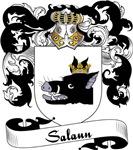 Salaun Family Crest, Coat of Arms
