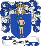 Sauvage Family Crest, Coat of Arms