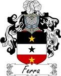 Ferra Family Crest, Coat of Arms