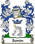 Sonin Family Crest, Coat of Arms