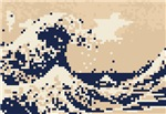 The Great Wave off Kanagawa 8 Bit Pixel Art
