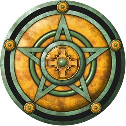 Green Pentacle w/gold