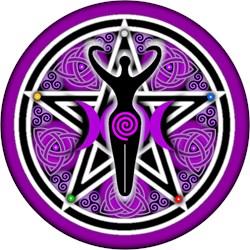 Purple Goddess Pentacle