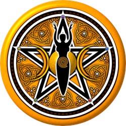 Gold Goddess Pentacle