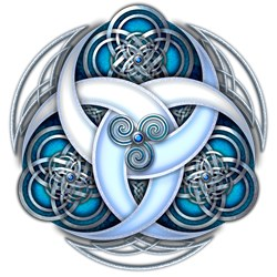 Celtic Triple Crescents - Blue