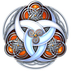 Celtic Triple Crescents - Orange