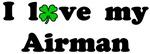 I love my Airman - With lucky clover