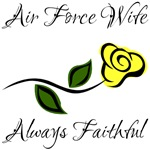 Air Force Wife - Always Faithful with Yellow Rose