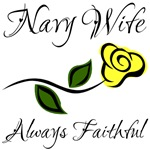 Navy Wife - Always Faithful with Yellow Rose
