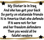 My Sister is in Iraq Poem