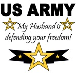 My husband is defending your freedom