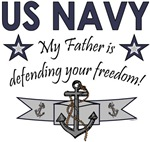 My Father is defending your freedom!